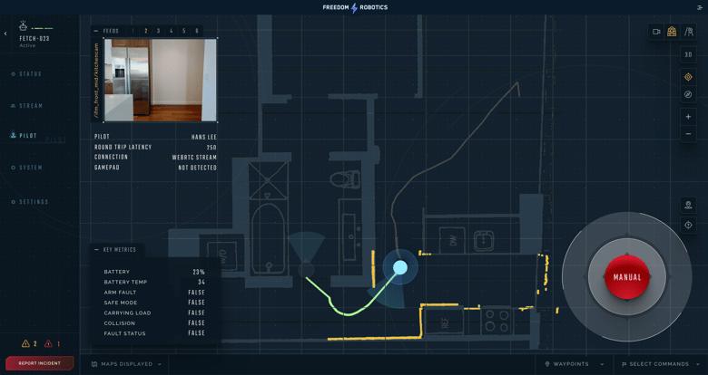 Freedom Robotics Manual Control Interface
