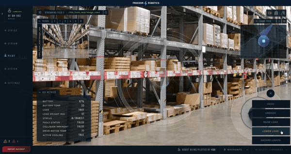 Freedom Pilot for Logistics Robots